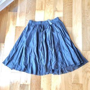 NWT Charcoal Gray MIDI Skirt
